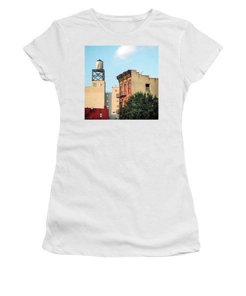 Women's T-Shirt featuring the photograph New York Water Tower 3 by Gary Heller