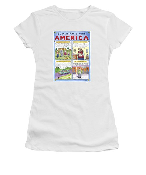 New Yorker January 16th, 1995 Women's T-Shirt (Junior Cut) by Roz Chast