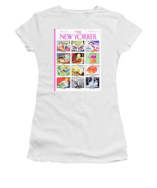 New Yorker January 7th, 1991 Women's T-Shirt