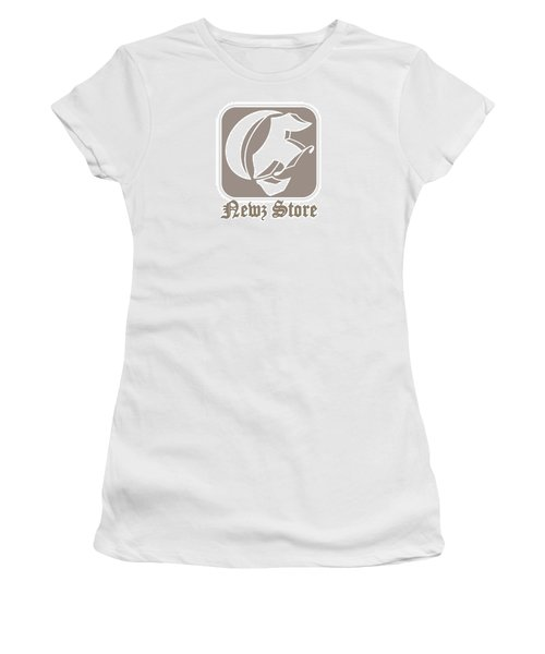Women's T-Shirt (Junior Cut) featuring the drawing Eclipse Newspaper Store Logo by Dawn Sperry