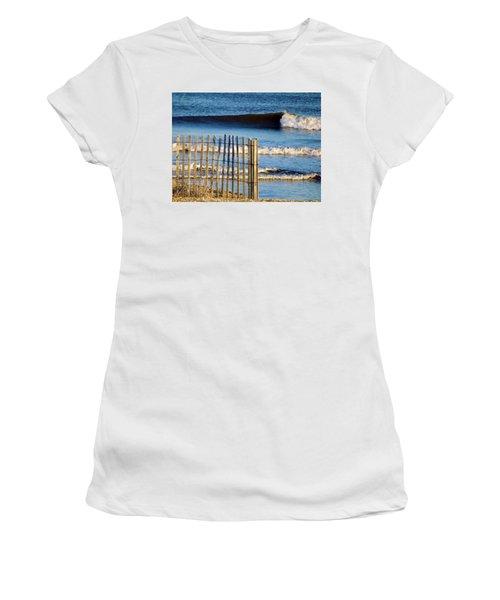 Nice Wave Women's T-Shirt (Junior Cut) by John Wartman