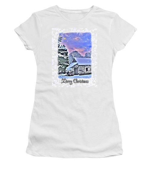 Christmas Card 27 Women's T-Shirt (Junior Cut) by Nina Ficur Feenan