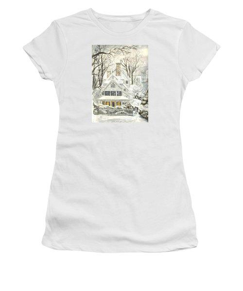 No Place Like Home For The Holidays Women's T-Shirt (Junior Cut) by Carol Wisniewski