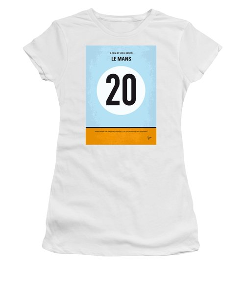 No038 My Le Mans Minimal Movie Poster Women's T-Shirt