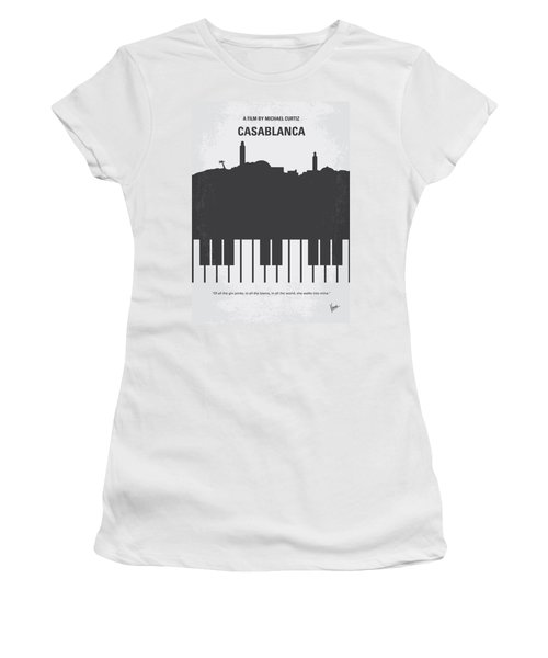 No192 My Casablanca Minimal Movie Poster Women's T-Shirt (Athletic Fit)