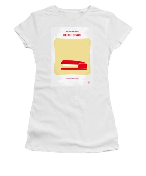 No255 My Office Space Minimal Movie Poster Women's T-Shirt