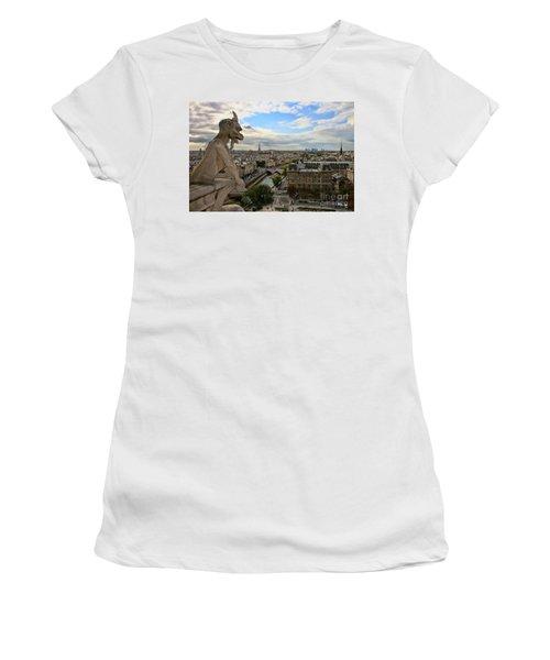 Notre Dame Gargoyle Women's T-Shirt (Athletic Fit)