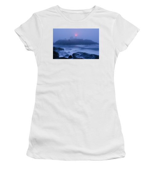 Nubble Light In Foggy Dawn Women's T-Shirt (Athletic Fit)