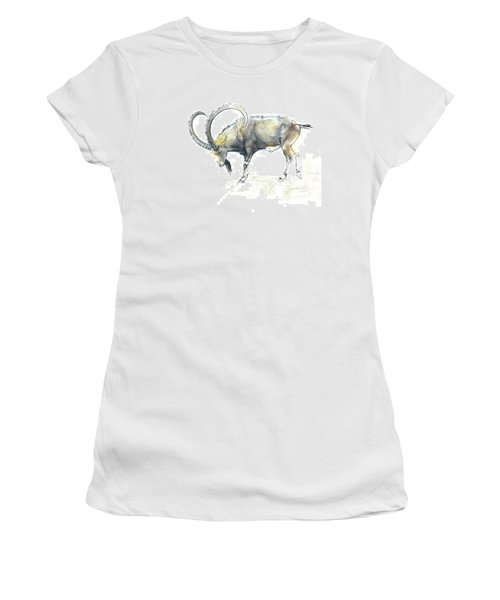 Nubian Ibex Women's T-Shirt (Athletic Fit)