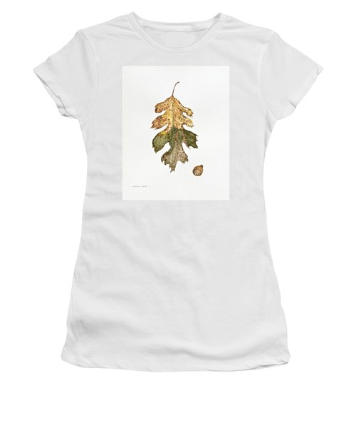 Women's T-Shirt (Athletic Fit) featuring the painting Oak Study by Michele Myers