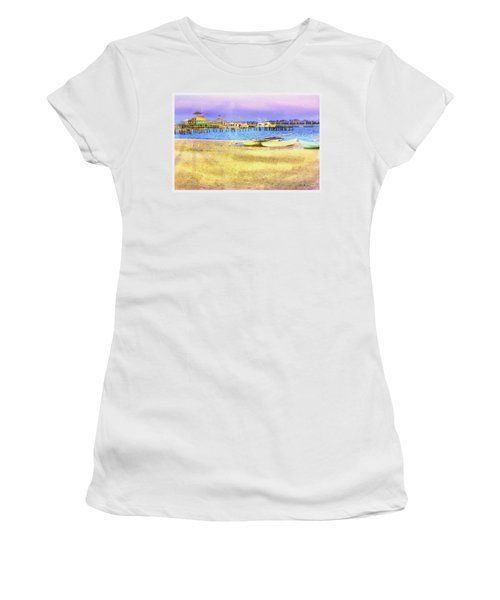 Coastal - Beach - Boats - Ocean Front Property Women's T-Shirt (Athletic Fit)