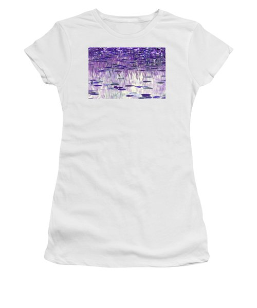 Ode To Monet In Purple Women's T-Shirt (Junior Cut) by Chris Anderson