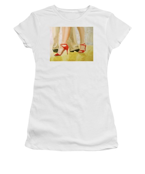 Oh Those Red Shoes Women's T-Shirt (Athletic Fit)