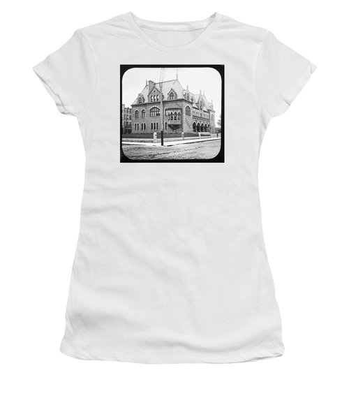 Old Customs House And Post Office Evansville Indiana 1915 Women's T-Shirt (Athletic Fit)