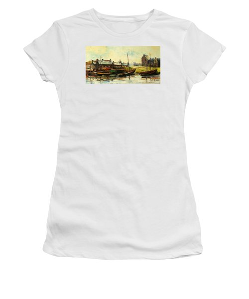 Old Fisherman's Village Women's T-Shirt (Athletic Fit)
