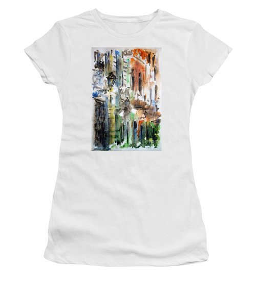 Old Houses Of San Juan Women's T-Shirt (Athletic Fit)