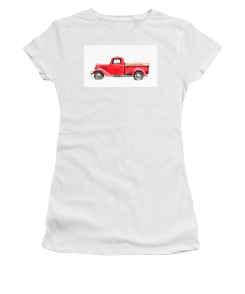 Old Red Ford Pickup Women's T-Shirt