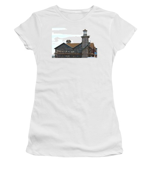 Old Restaurant                 Women's T-Shirt (Junior Cut) by Lorna Maza
