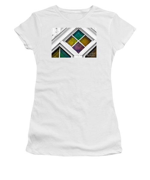 Old Stained Glass Windows Women's T-Shirt (Athletic Fit)