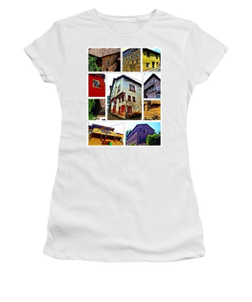 Women's T-Shirt (Junior Cut) featuring the photograph Old Turkish Houses by Zafer Gurel