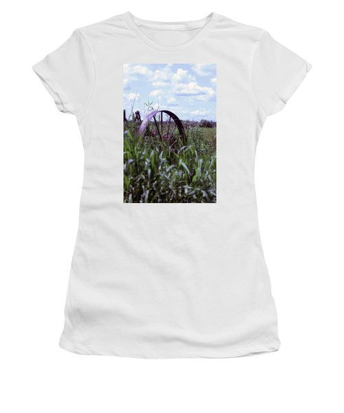 Old Wheel  Women's T-Shirt (Athletic Fit)