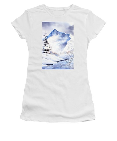 Women's T-Shirt (Junior Cut) featuring the painting O'malley Peak by Teresa Ascone