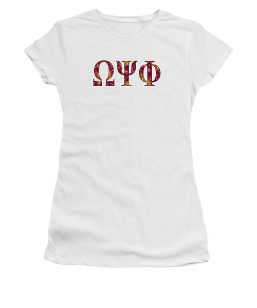 Omega Psi Phi - White Women's T-Shirt (Junior Cut) by Stephen Younts
