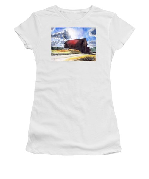 On The Macon Road. - Saline Michigan Women's T-Shirt (Athletic Fit)