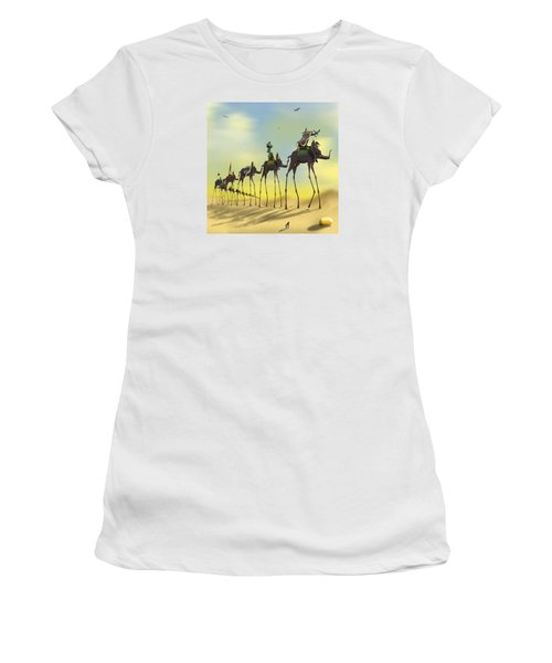 On The Move 2 Without Moon Women's T-Shirt (Junior Cut) by Mike McGlothlen