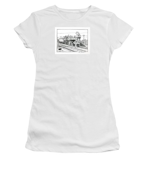 On The Old Pennsy Women's T-Shirt (Junior Cut) by Ira Shander