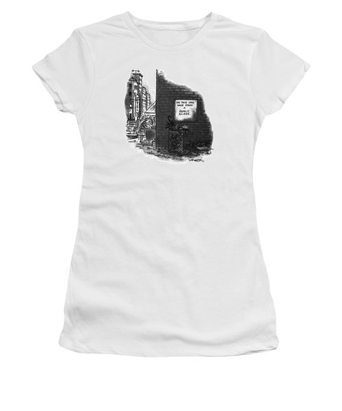 'on This Spot Once Stood A Sunlit Glade.' Women's T-Shirt
