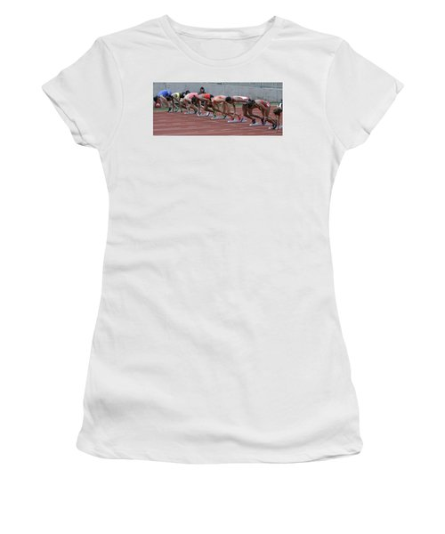 On Your Marks Women's T-Shirt (Athletic Fit)