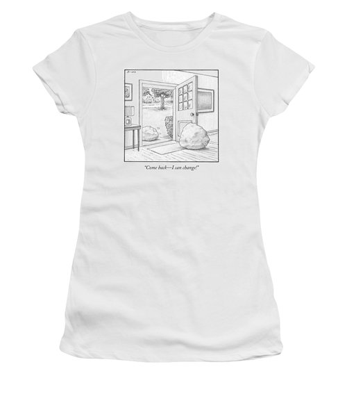 One Boulder Speaks To Another Boulder That Women's T-Shirt