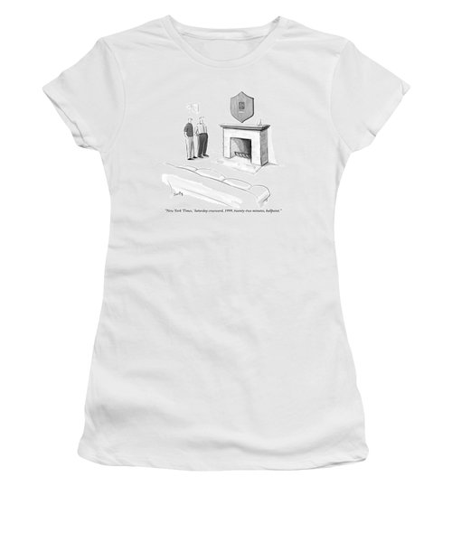 One Man Shows Off A Framed Crossword Women's T-Shirt
