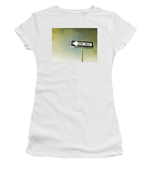 One Way Road Sign Women's T-Shirt