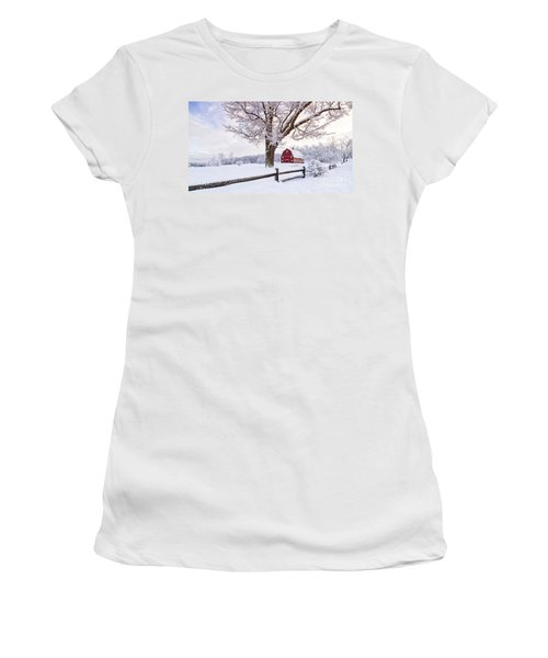 One Winter Morning On The Farm Women's T-Shirt