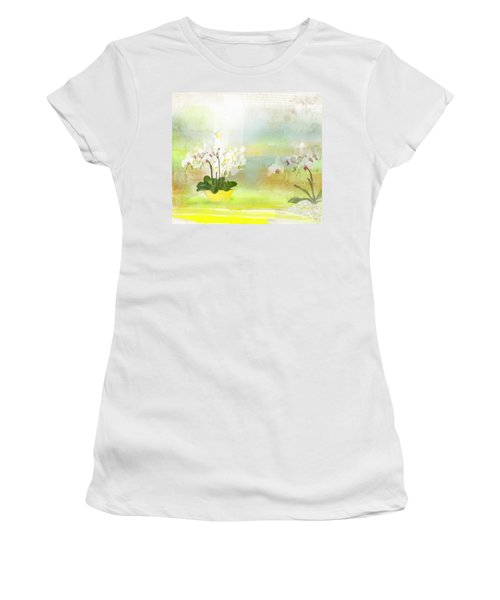 Orchids - Limited Edition 1 Of 10 Women's T-Shirt (Junior Cut) by Gabriela Delgado
