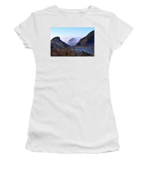 Oregon Coast In Fog Women's T-Shirt (Athletic Fit)