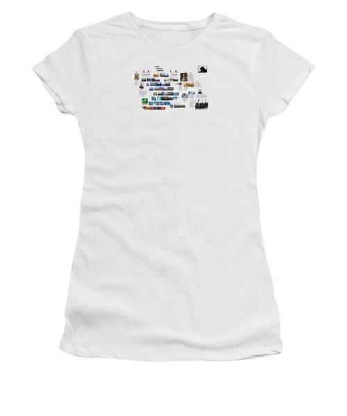 Origin8ing Women's T-Shirt (Junior Cut) by Peter Hedding