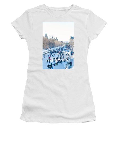 Ottawa Rideau Canal Women's T-Shirt (Athletic Fit)