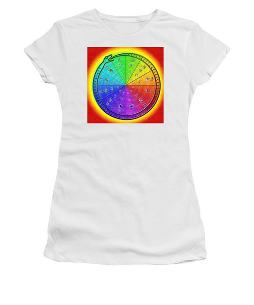 Ouroboros Alchemical Zodiac Women's T-Shirt (Athletic Fit)