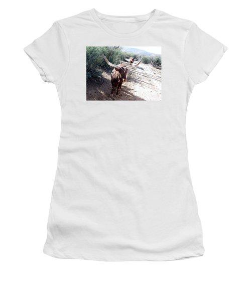 Out Of Africa  Long Horns Women's T-Shirt