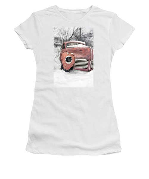 Women's T-Shirt (Athletic Fit) featuring the photograph Out Of The Past by Edward Fielding
