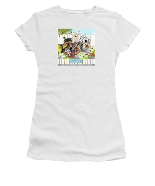 Owned By Yorkies II Women's T-Shirt (Athletic Fit)
