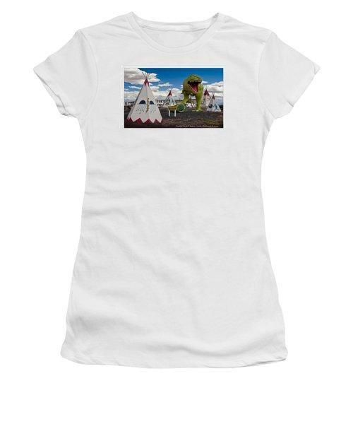 Painted Desert Indian Center  Women's T-Shirt (Junior Cut) by Gary Warnimont