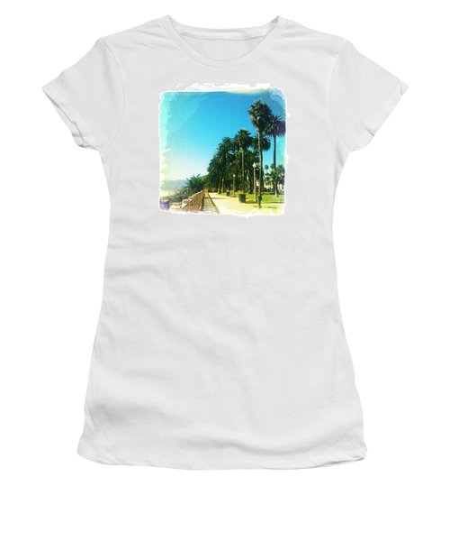 Palisades Park Women's T-Shirt (Junior Cut) by Nina Prommer