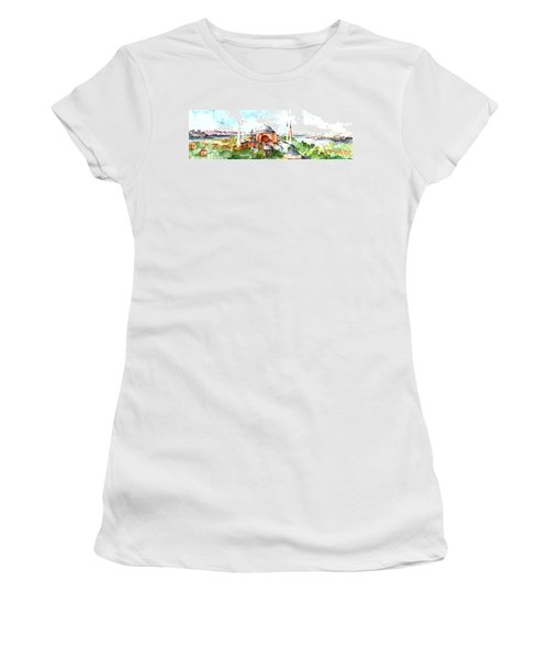 Panoramic Hagia Sophia In Istanbul Women's T-Shirt (Athletic Fit)