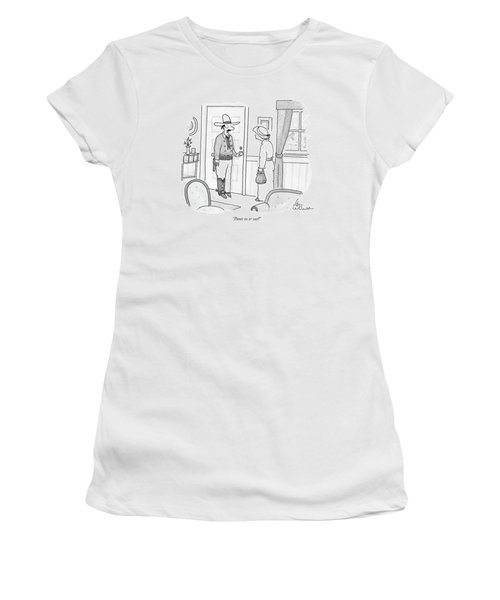 Pants In Or Out? Women's T-Shirt