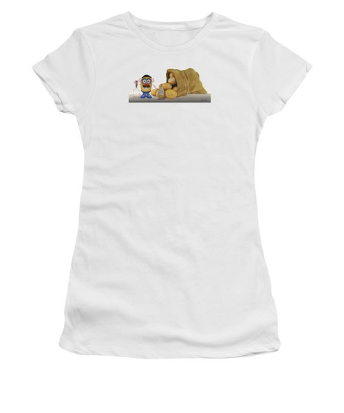 Papa Got A Brand New Bag Women's T-Shirt (Junior Cut) by Ferrel Cordle