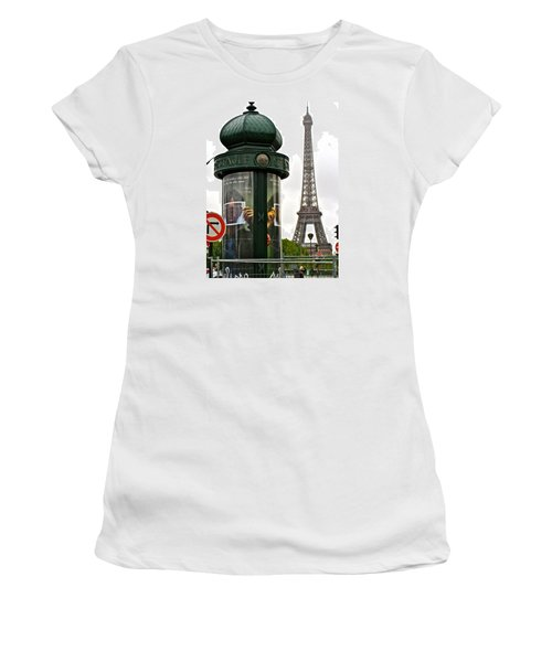 Women's T-Shirt (Junior Cut) featuring the photograph Paris by Ira Shander